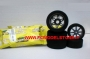Treno gomme MATRIX TYRES MESCOLA 35sh 1/8 On Road cerchio CARBON